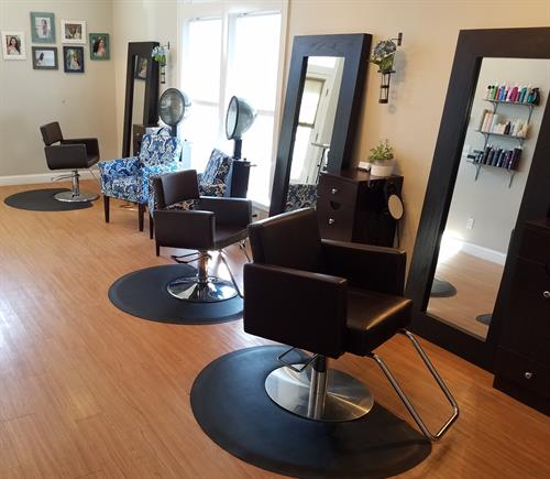 The hair salon consists of 5 stylists who are experienced, professional, and keep current with trends and education.