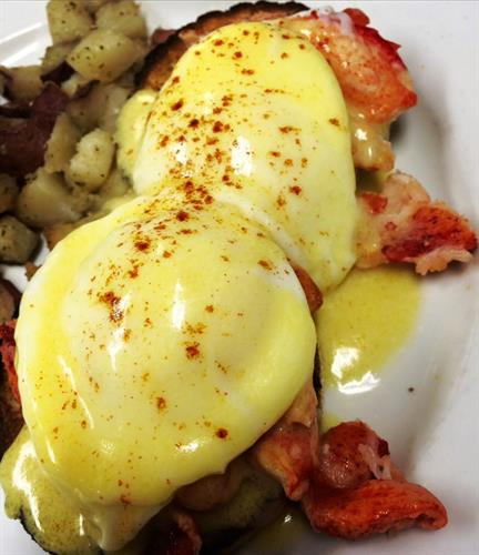 Our scrumptious Lobster Eggs Benedict