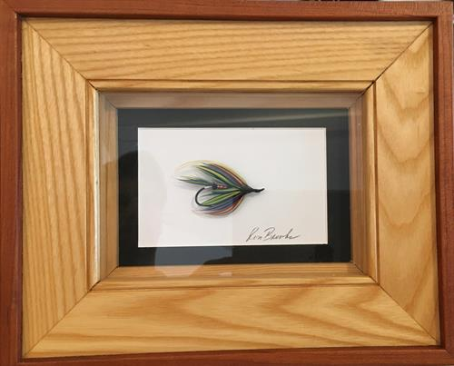 Framed hand-tied flies