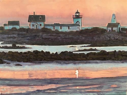 Original oil paintings, lighthouse, seascape
