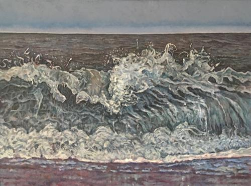 Original oil paintings, ocean wave