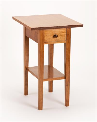 End Table in the shaker style hand crafted in cherry with solid joinery
