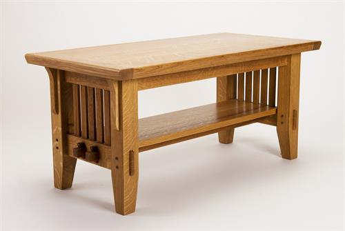 """Mission Oak"" coffee table im quarter sawn white oak"