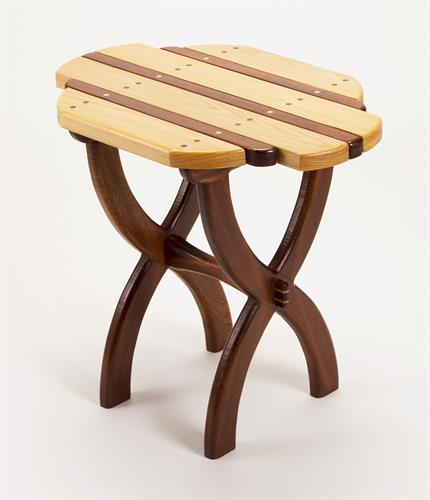 """Companion"" side table in Utile Mahogany and Cypress"