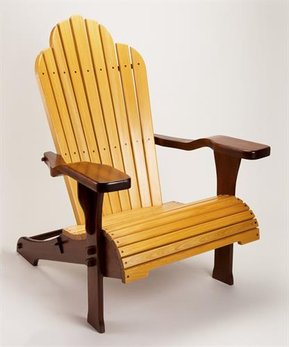 """Daydreamer"" deck chair in Utile Mahogany and Cypress"