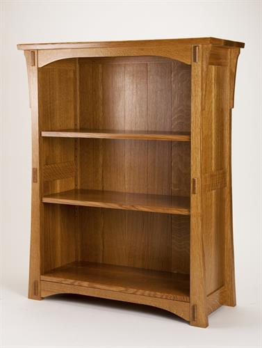 Mission Style Bookcase in quarter sawn white oak