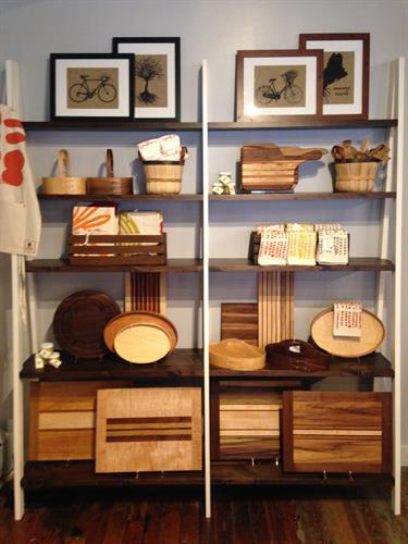 An assortment of wood products, perfect for the upcoming Holiday entertaining season!