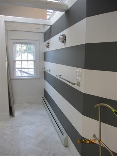 Interior, Bathroom Stripes, Kennebunkport