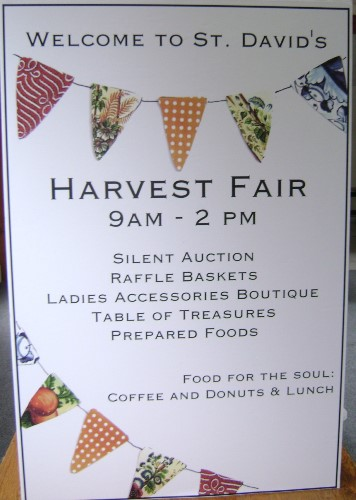 Our Famous Annual Harvest Fair...always the 1st Saturday in November