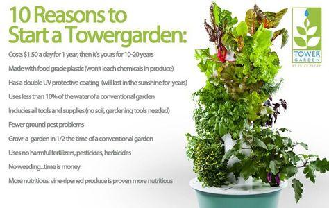 "Tower Garden - Grow Good Health in 30"" of Space"