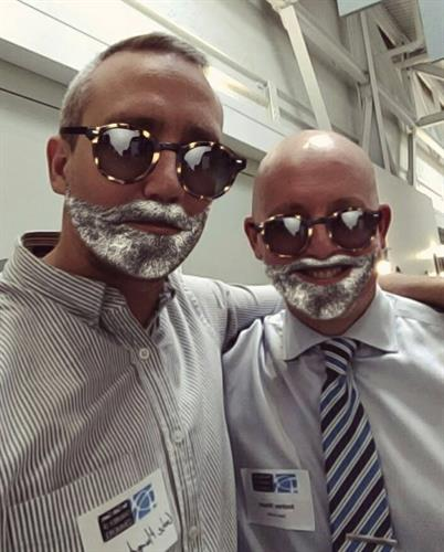 Gabe our Director of Technology with Andrew President of Danio Connect having some fun
