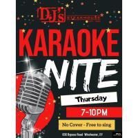 DJ's Steakhouse - Karaoke Nite