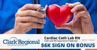 RN - Cardiac Cath Lab (day shift) $5,000 Sign On Bonus