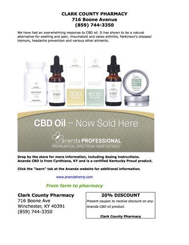 Clark County Pharmacy now has CBD oil