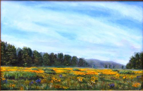 "Oil painting ""June Flowers at Haddam Meadows I"""