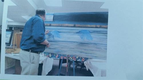 Dan recently did a demo and workshop at the Avon Arts Association, Avon, CT