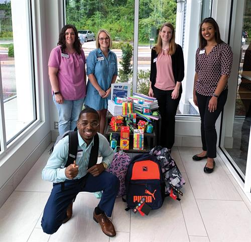Chelsea Groton team members collected school supplies to donate to our community