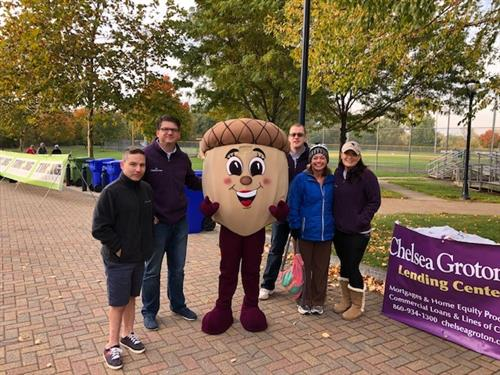Team members volunteering at the Glastonbury Apple Harvest Festival