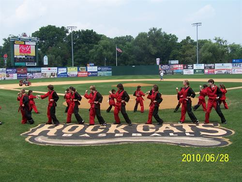 Karate demo for The Rock Cats!