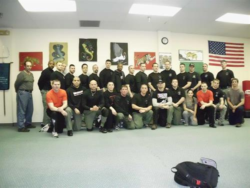 Sensei Shekosky teaching security and SWAT team personell!