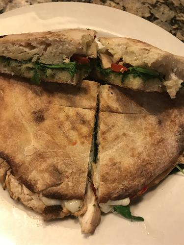 Hand made panini starts every pressed sandwich