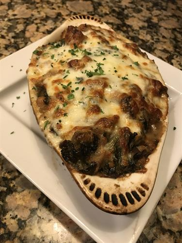 Nick Fradiani Sr. His favorite, eggplant Rolatini