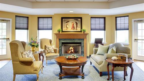 Our Life Guidance family has a beautiful living room to enjoy indoors...