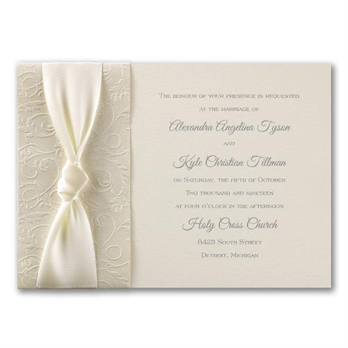 Wedding Invitation  (Filigree and Satin)