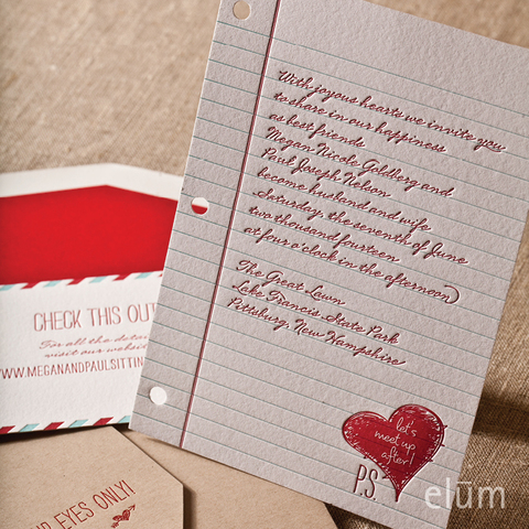 Wedding Invitation (Love Note/Theme)