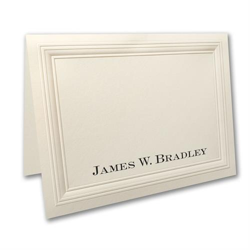 Personalized Note Folder - (Large/Ecru)