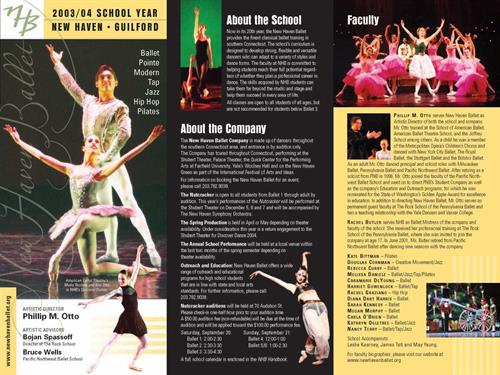 Brochure for New Haven Ballet