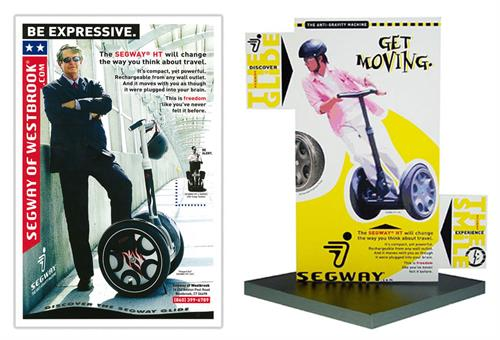 Two tabletop displays for Segway of Westbrook