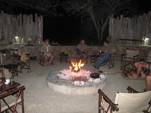 Wine and dinner around the lapa South Africa