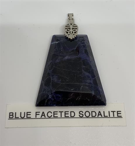 Natural Sodalite Pendant. Hand designed.