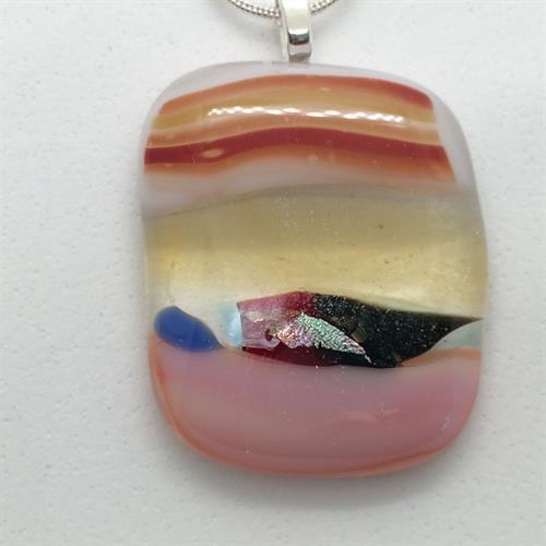 pink seascape pendant