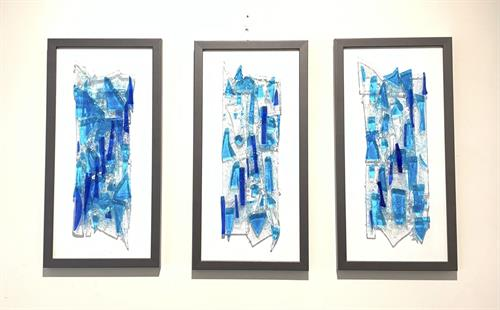 Large waterfall triptych