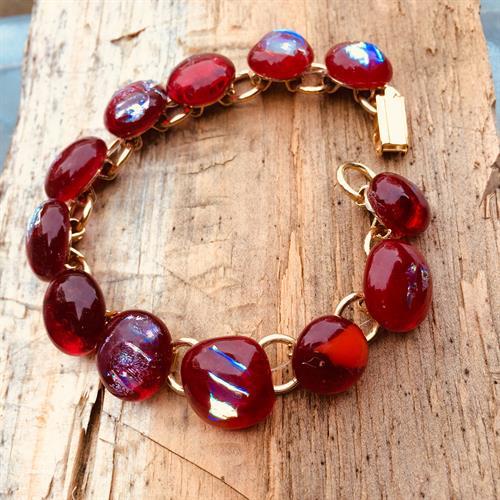 Red drops love bracelet