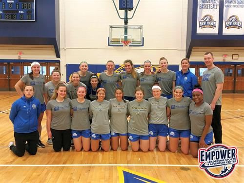 Empower Sports Leadership Training with University of New Haven Women's Soccer