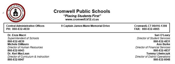 Cromwell Board Of Education