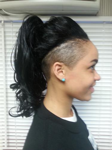 STRIKE-A-POSE W/ERICA Haircut (Fade) & Weave