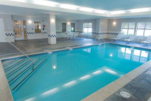 Make a splash in our indoor pool!