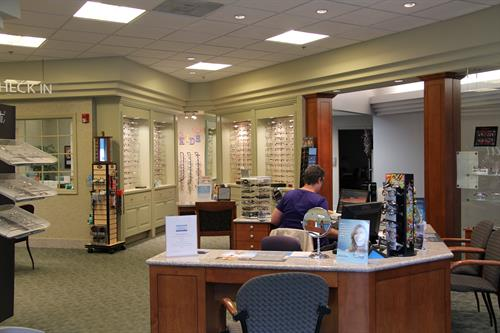 Our beautiful full service optical department