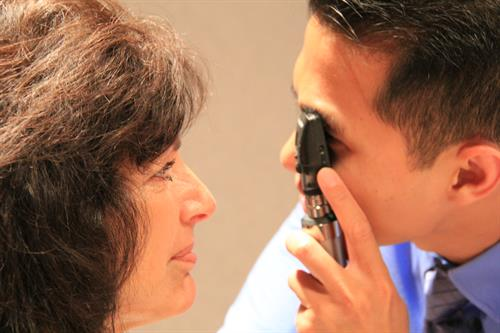 "Direct ophthalmoscopy allows the physician to view the ""inside"" portion of your eye"
