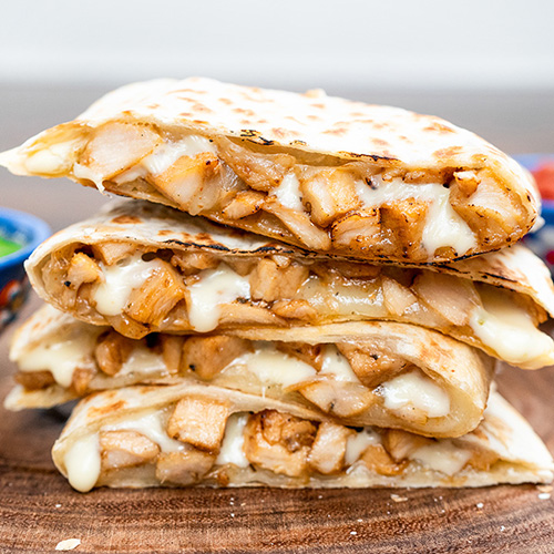 Quesadilla - Start with cheese and load with your favorites