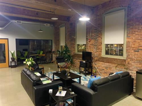Any good creative space needs a lounge area to brainstorm.