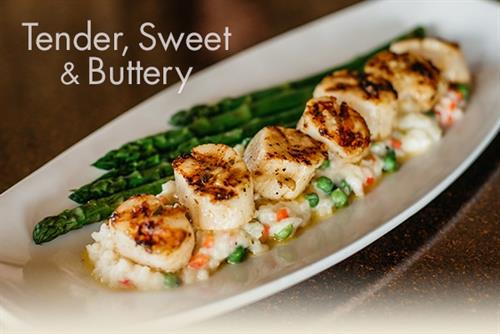 Our Caramelized Sea Scallops are our of this world!