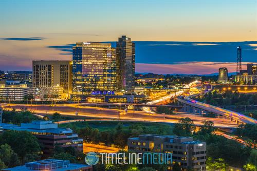 Evening view of Tysons, Virginia ©TimeLine Media