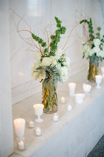 Vintage Milkglass Candles | Perfect for the Big Day