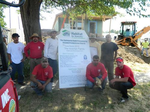 We believe in giving back to the community; Habitat For Humanity