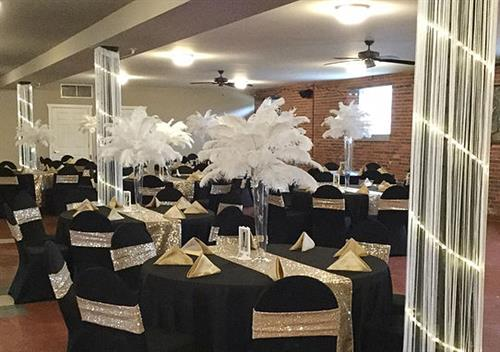 Calumet Club - Linens, Centerpieces and Decor